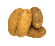 Potato for cooking on white isolate background winth clipping pa Stock Photos