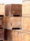 Potato Crates Royalty Free Stock Photography