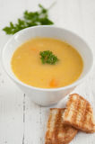 Potato Cream Soup. Traditional vegetarian cream potato soup Stock Photography