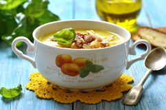 Potato cream soup. Royalty Free Stock Images