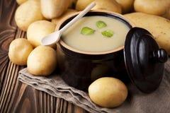 Potato cream soup Stock Photos