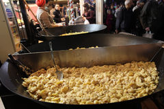 Potato with cream in street food market. Paris Stock Photos