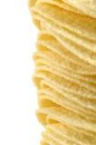Potato crisps. Pile of natural potato crisps Stock Images