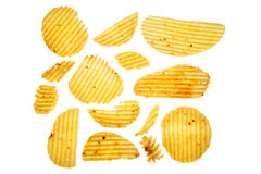Potato crisps Royalty Free Stock Photo