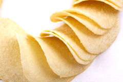 Potato crisps (chips) on a white background Stock Photo
