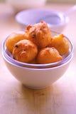 Potato crisps on plate Royalty Free Stock Photography