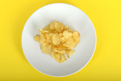 Potato Crisps on a Plate Stock Images