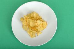 Potato Crisps on a Plate Stock Photography