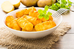 Potato croquettes Stock Photo