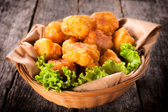 Potato croquettes stock image