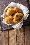 Potato croquettes, or Japanese Korokke, cooked from mashed potat Royalty Free Stock Image