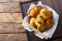 Potato croquettes, or Japanese Korokke, cooked from mashed potat Stock Photos