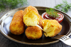 Potato croquettes Stock Images