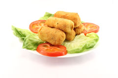 Potato croquettes in a plate Stock Photography