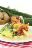 Potato-cucumber salad Royalty Free Stock Image