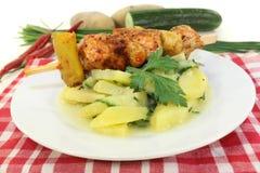 Potato-cucumber salad Stock Photo