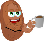 Potato with a cup of coffee Royalty Free Stock Photography