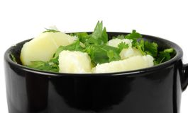 Potato in cup Stock Image