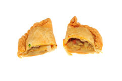 Potato curry puff on white Royalty Free Stock Photos