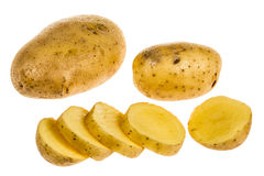 Potato cut isolated Royalty Free Stock Image