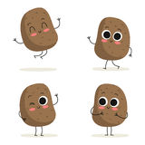 Potato. Cute vegetable character set  on white Stock Photo