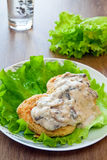 Potato Cutlets With Mushroom Sauce Royalty Free Stock Image