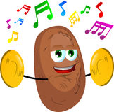 Potato with cymbals Stock Photos