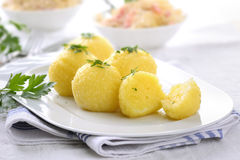 Potato Dumplings Stock Photo