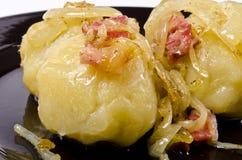 Potato dumplings with meat filling Stock Photo