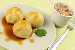 Sweet plum dumplings Stock Image