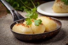 Potato dumplings stuffed with minced meat. Stock Image