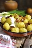 Potato dumplings - traditional dish of belorussian and polish cu Stock Photo