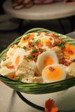 Potato and egg salad Stock Images