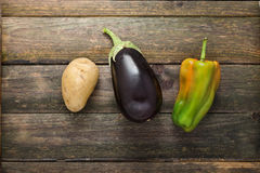 Potato, Eggplant, Pepper Royalty Free Stock Photography