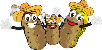 Potato family Royalty Free Stock Photos