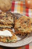 Potato flapjack (draniki) Royalty Free Stock Photo