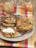 Potato flapjack (draniki) Royalty Free Stock Images