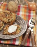 Potato flapjack (draniki) Stock Photo
