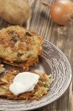 Potato flapjack (draniki) Stock Image
