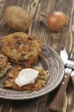 Potato flapjack (draniki) Royalty Free Stock Image