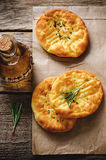 Potato flatbread with rosemary Royalty Free Stock Photos