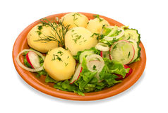 Potato with frash salad Stock Image