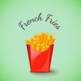 Potato. French fries potato. Vector illustration Stock Images