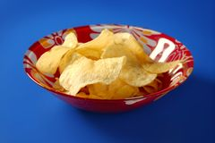 Potato fried chips Stock Photos