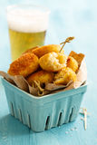Potato fries with cod Royalty Free Stock Photography
