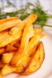 Potato fries with greenery Stock Photos
