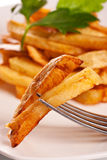 Potato fries on a plate Royalty Free Stock Images
