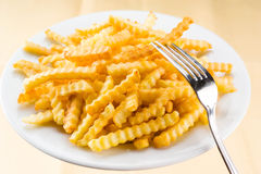 Potato fries in the plate Royalty Free Stock Photos