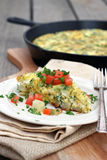 Potato Frittata Royalty Free Stock Photography