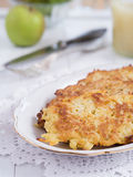 Potato fritter on a plate Stock Image